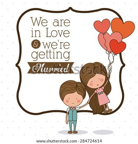 Love design over white background, vector illustration - stock vector