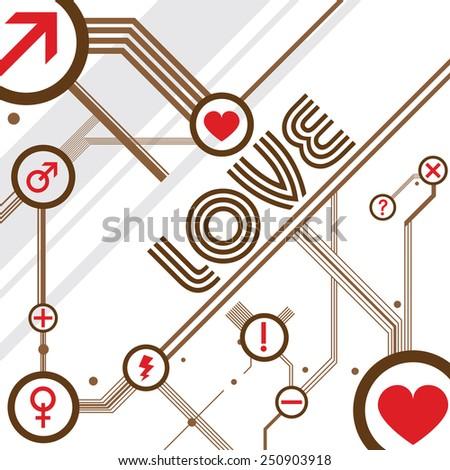 love design vector - stock vector