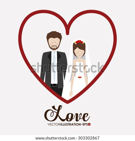 Love digital design, vector illustration eps 10