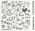 Love doodle vector set - stock photo