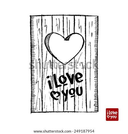 love door - stock vector