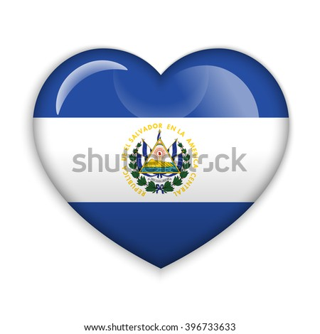 Love El Salvador Symbol Heart Flag Stock Vector 396733633 Shutterstock