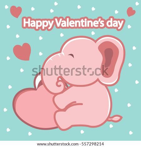 Love Valentines Background Elephant Images RoyaltyFree – Elephant Valentines Card
