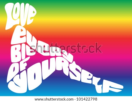 Love Every Bit of Yourself- Positive Reinforcement - stock vector
