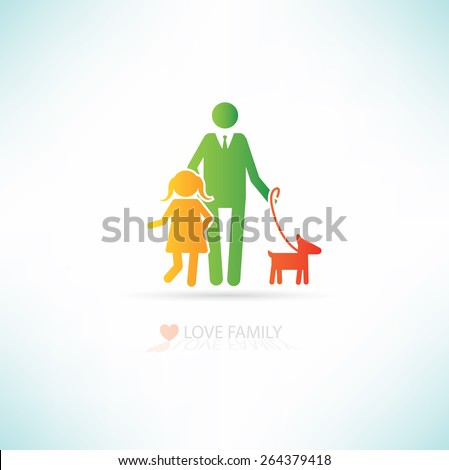 Love family concept design,clean vector