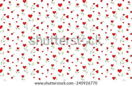 love flower pattern - stock vector