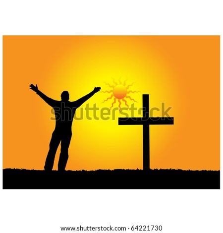 Love for God.Vector - stock vector