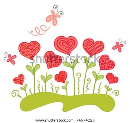 Love grass - stock vector