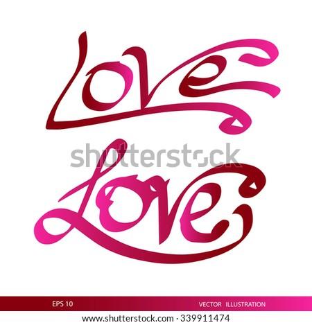 Love.Happy Valentine's Day - stock vector