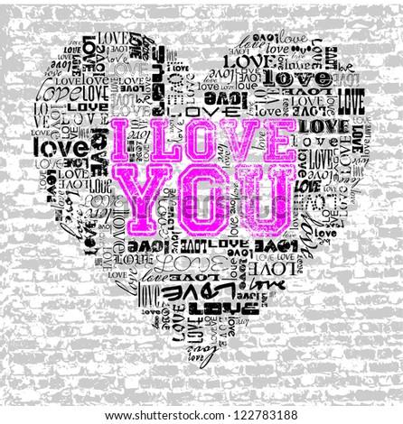 LOVE HEART - stock vector