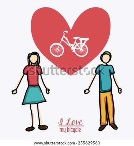 love heart, desing over white background, vector illustration - stock vector