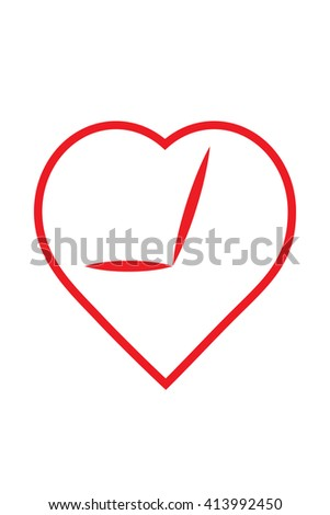 love heart feeling emotion romantic valentine affection goodness concept vector icon - stock vector