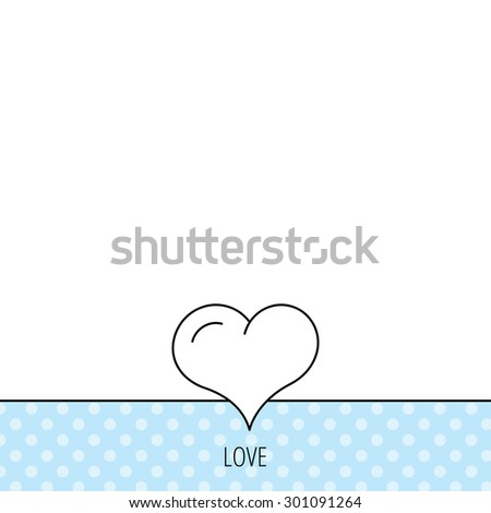 Love heart icon. Life sign. Circles seamless pattern. Background with icon. Vector - stock vector