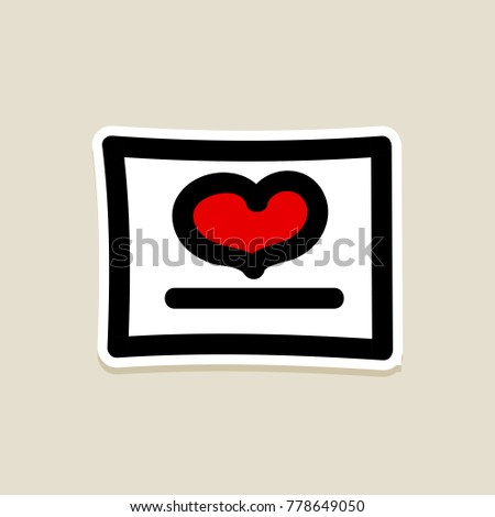 Love heart romantic greeting card valentines stock vector 778649050 love heart romantic greeting card valentines day valentines day icon doodle hand drawn m4hsunfo