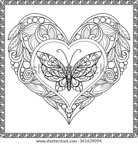 how to make a zentangle butterfly