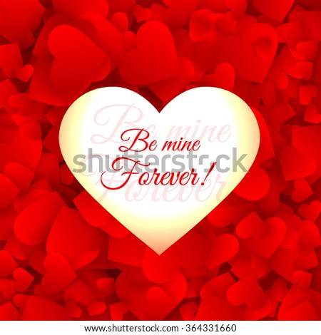 love hearts red background