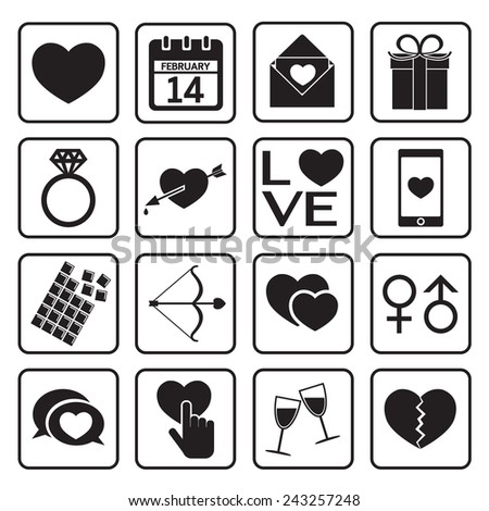 love icon - stock vector