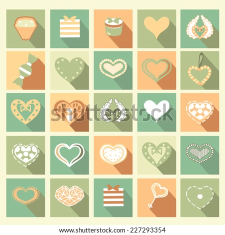 Love icons. Vector. Ideal for valentines day  - stock vector