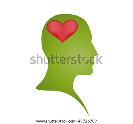 Love in mind - stock vector