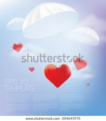 Love is in the air. Vector template - stock vector