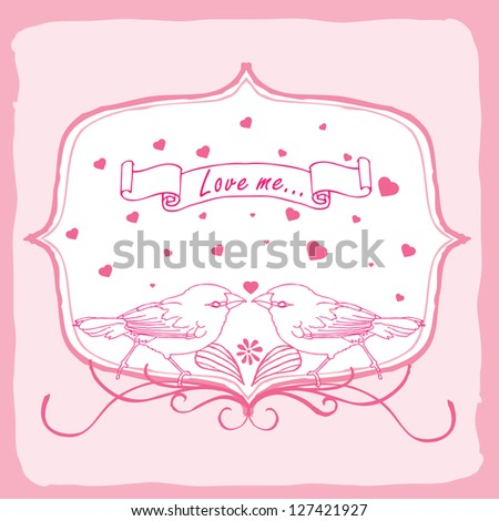 Love me Valentine card