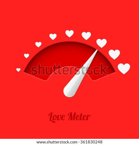Love meter, vector illustration - stock vector