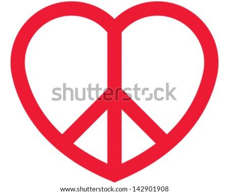 Love Peace - stock vector
