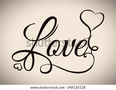 love poster design, vector illustration eps10 graphic  - stock vector