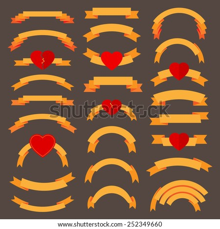 Love ribbons vector illustration - stock vector