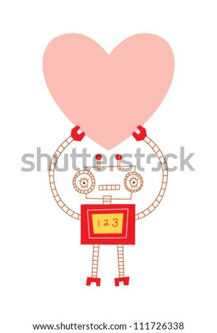 love robot - stock vector