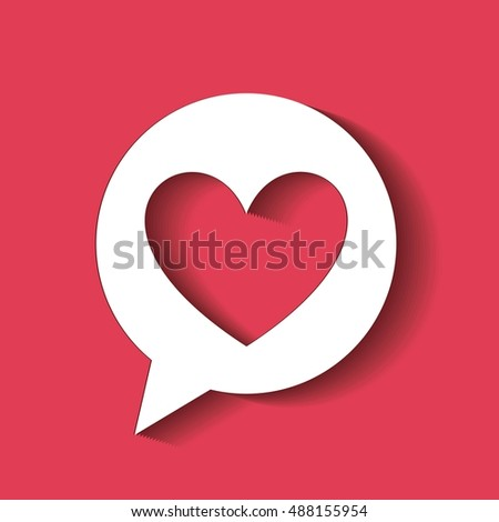 love romantic card isolated vector illustration design