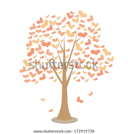 Love Romantic Tree Vector