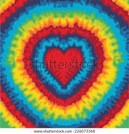 Love sign Mandala - Hippie style - stock vector