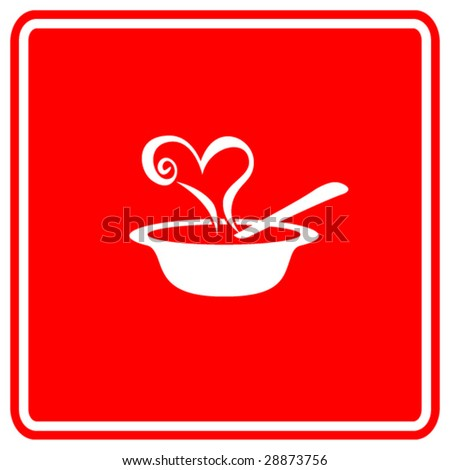 love soup sign - stock vector