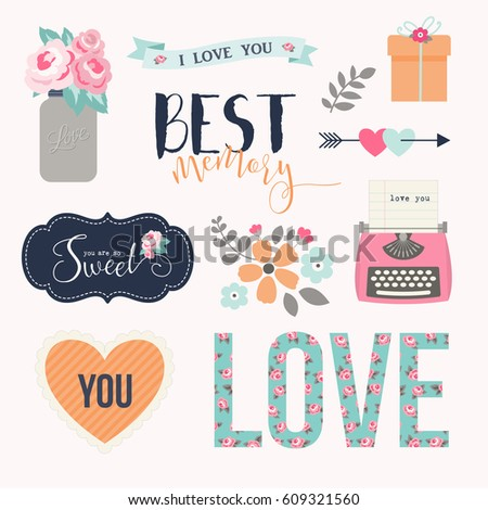 love stickers signs symbols objects and templates for planners wedding invitations