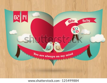 Love Story - stock vector