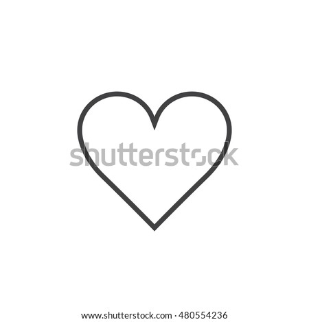 Love Heart Outline
