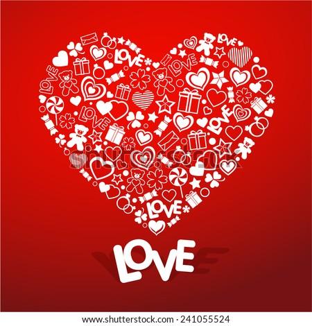 Love symbol vector - stock vector