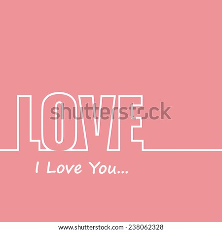 Love text - stock vector
