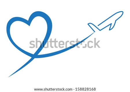 Love Travel Concept Illustration - stock vector