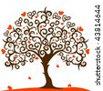 love tree vector - stock vector
