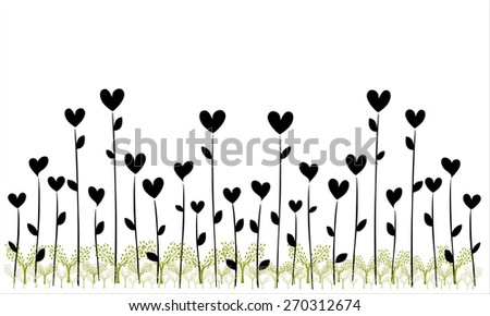 Love tree with heart  - stock vector