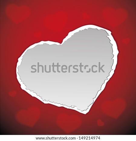 love valentine background - stock vector