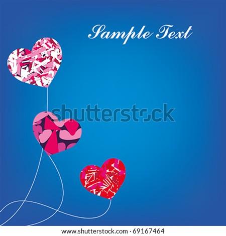 Love Valentines card - stock vector