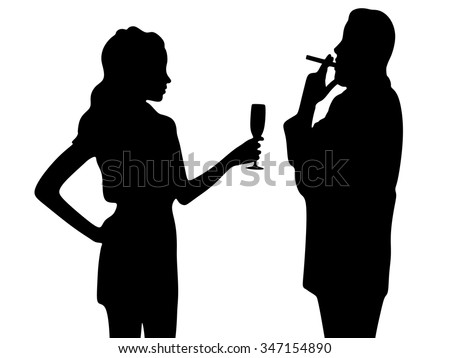 love with romantic couple watching passionately - stock vector