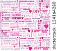 Love word collage on white background. - stock vector