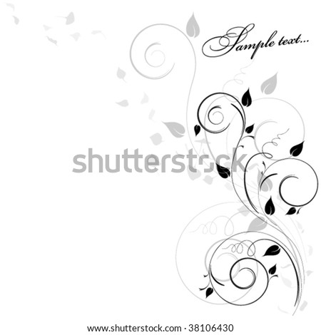 lovely birch branch - stock vector