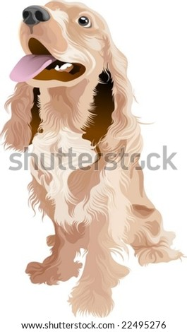 Lovely Dog - stock vector