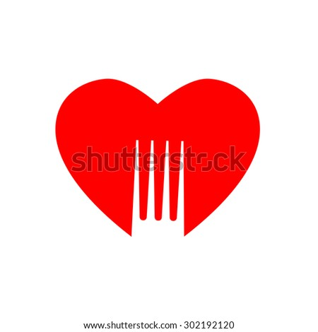 Lovely food - template logo for restaurants, cafe, fast food, store food. - stock vector