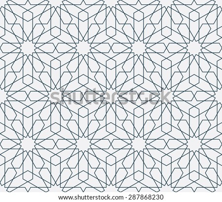 Lovely modern thin line vector traditional arabic pattern background design. Ideal for wall decoration, printables and wrapping paper design